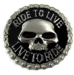 Klamra do pasa motocyklowa - RIDE TO LIVE, LIVE TO RIDE