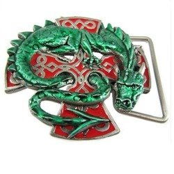 Klamra do paska - DRAGON GREEN