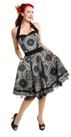 Sukienka rockabilly ALISA BANDANA DRESS