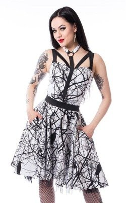Sukienka gotycka wrony CROW DRESS
