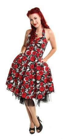 Sukienka pin up w kwiaty BECCA DRESS