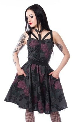 Sukienka rockabilly DARK ROSE dress