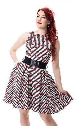 Sukienka w wisienki rockabilly Sweetie Dress